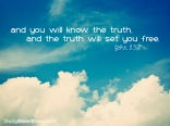 John 8:32 I DailyBibleMeme.com