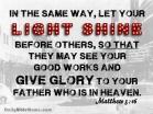 Matthew 5:16 I DailyBibleMeme.com