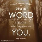 Psalm 119:11 I DailyBibleMeme.com
