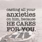 1 Peter 5:7  I  DailyBibleMeme.com