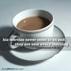 Lamentations 3:22-23 I DailyBibleMeme.com