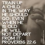 Proverbs 22:6 I DailyBibleMeme.com