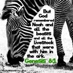 Genesis 8:1 I DailyBibleMeme.com