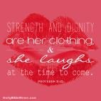 Proverbs 31:25 I DailyBibleMeme.com