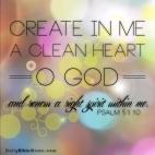 Psalm 51:10 I DailyBibleMeme.com