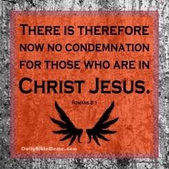 Romans 8:1 I DailyBibleMeme.com