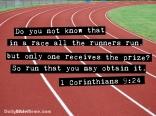 1 Corinthians 9:24 I DailyBibleMeme.com