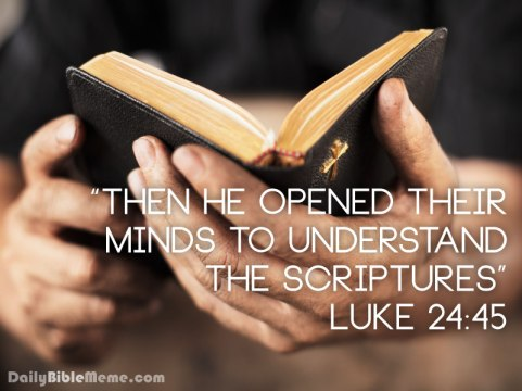 Image result for picture then he opened their minds to understand luke 24:45